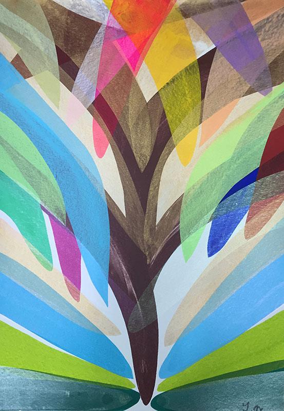 長山太一新作絵画「全ての命の木」他五点