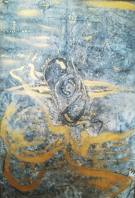 飛び入り作品*阿部光伸さんの絵画「霊山」ほか5点。