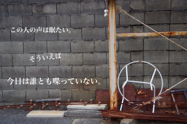 この人の声は眠たい。そういえば今日は誰とも喋っていない。 小坂井大輔